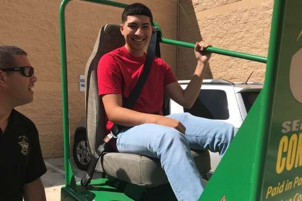 Teen Driving Course Seatbelt Challenge